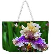 Rain Coated Multi Colored Iris Weekender Tote Bag
