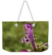 Rain Drop Olympics On Dead Nettle Flower Weekender Tote Bag