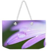 Rain Droplets On A Daisy Weekender Tote Bag