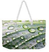 Rain Drops On A Leaf Weekender Tote Bag