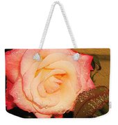 Rain Flower Rose Weekender Tote Bag