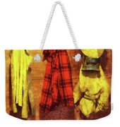 Rain Gear And Red Plaid Jacket Weekender Tote Bag