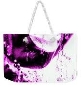 Rain Hot Pink Weekender Tote Bag