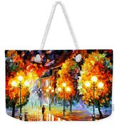 Rain In The Night City Weekender Tote Bag