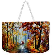 Rain In The Woods Weekender Tote Bag