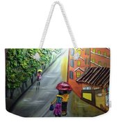 Rain Nature And Street  Weekender Tote Bag