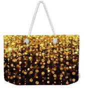 Rain Of Lights Christmas Or Party Background Weekender Tote Bag