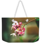 Rain On Flowers Weekender Tote Bag