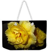 Rain Soaked Yellow Rose Weekender Tote Bag