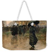 Rain Storm Union Square Weekender Tote Bag by Childe Hassam