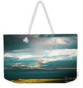 Rainbow Above Lake Manasarovar Kailash Yantra.lv Weekender Tote Bag
