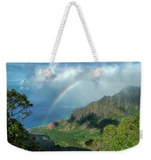 Rainbow At Kalalau Valley Weekender Tote Bag