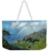 Rainbow At Kalalau Valley Weekender Tote Bag