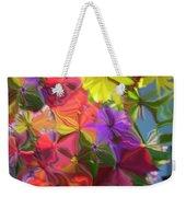 Rainbow Bouquet Weekender Tote Bag