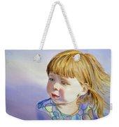 Rainbow Breeze Girl Portrait Weekender Tote Bag