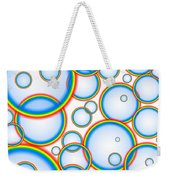 Rainbow Bubbles Weekender Tote Bag