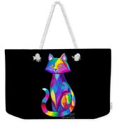 Rainbow Cat Weekender Tote Bag