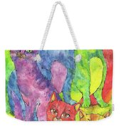 Rainbow Cats 2017 07 01 Weekender Tote Bag