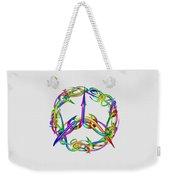 Rainbow Circle Weekender Tote Bag