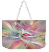 Rainbow Colored Abstract. Concept Divine Virtues Weekender Tote Bag