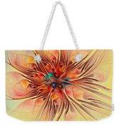 Rainbow Colored Flower Weekender Tote Bag