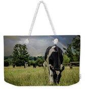 Rainbow Cow Weekender Tote Bag
