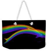 Rainbow Dolphin Weekender Tote Bag