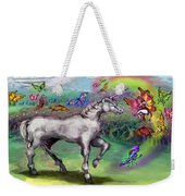 Rainbow Faeries And Unicorn Weekender Tote Bag