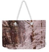 Rainbow Falls Smoky Mountain National Park -- Painted Photo. Weekender Tote Bag by Christopher Gaston