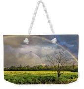 Rainbow Field Weekender Tote Bag