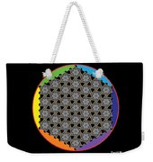 Rainbow Flower Of Life Wob Weekender Tote Bag