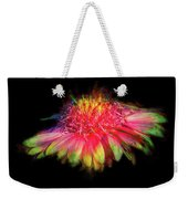 Rainbow Flower On Black Weekender Tote Bag