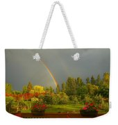Rainbow From The Back Deck Weekender Tote Bag