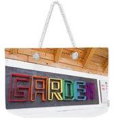 Rainbow Garden Sign One Weekender Tote Bag