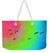 Rainbow Gulls Weekender Tote Bag