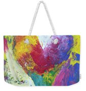 Rainbow Heart In The Cloud Acrylic Paintings Weekender Tote Bag