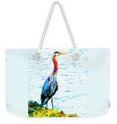 Rainbow Heron Weekender Tote Bag