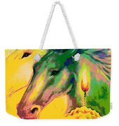 Rainbow Horses And The Pearl Of Light Weekender Tote Bag