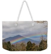 Rainbow In Front Of Sharp Top Weekender Tote Bag