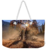 Rainbow In Yosemite Valley Ice Fog Weekender Tote Bag