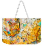 Rainbow Leaves Aqua Weekender Tote Bag