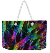 Rainbow Leaves Weekender Tote Bag