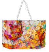 Rainbow Abstract Leaves Weekender Tote Bag