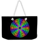 Rainbow Mandala Weekender Tote Bag