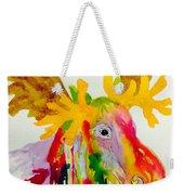 Rainbow Moose Head  - Abstract Weekender Tote Bag