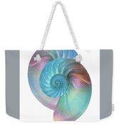 Rainbow Nautilus Pair On White Weekender Tote Bag