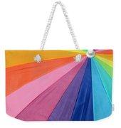Rainbow On The Beach Weekender Tote Bag