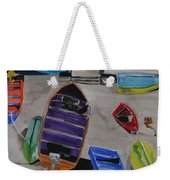 Rainbow On The Dock Weekender Tote Bag