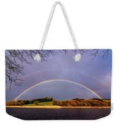 Rainbow On The Double Weekender Tote Bag