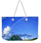 Rainbow Over Bora Bora Weekender Tote Bag